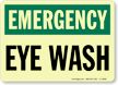 GlowSmart™ Eyewash Sign