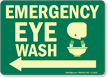 Emergency Eye Wash Glow Sign