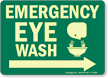 Emergency Eye Wash Arrow Right Sign
