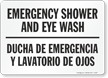 Emergency Shower and Eye Wash (Bilingual)