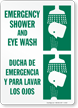 Bilingual Emergency Shower and Eye Wash Sign