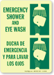 Emergency Shower and Eyewash (Bilingual) Sign