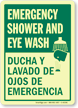 Glow-in-the-Dark Bilingual Emergency Sign
