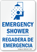 Bilingual Emergency Shower Sign