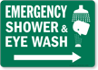 Emergency Shower & Eye Wash Sign