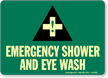 Emergency Shower and Eye Wash (graphic) Sign