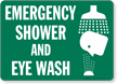 Emergency Shower Eyewash Sign