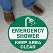 Emergency Shower: Keep Area Clear