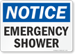 Notice: Emergency Shower