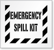 Emergency Spill Kit Floor Stencil