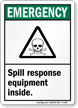 Emergency Spill Response Sign