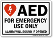 AED Label / Sign