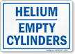 Helium Empty Cylinders Sign