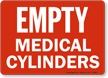 Empty Medical Cylinders Sign