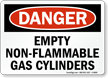 OSHA Empty Non-Flammable Gas Cylinders Sign