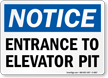 Entrance to Elevator Pit