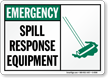 Spill Clean-Up Sign