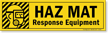 Magnetic Cabinet Label: Haz Mat Response Equipment