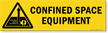 Magnetic Cabinet Label: Confined Space Equipment