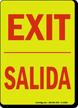 Bilingual Glow-in-the-Dark Sign