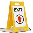 Exit (Up Arrow) Fold-Ups® Floor Sign
