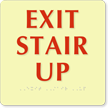 Exit Stair Up Sign