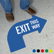 Exit This Way Curved Arrow