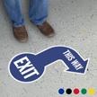 Exit This Way SlipSafe Floor Arrow Sign