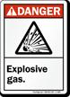 Danger ANSI Explosive Gas Sign