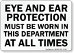 Personal Protective Equipment PPE Sign