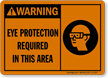 Eye Protection Required In This Area Warning Sign