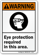 Eye Protection Required Sign, OSHA Warning