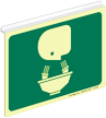 Glow-in-Dark Projecting Eye Wash Symbol Sign