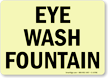 Eyewash Fountain Sign