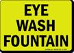 Glow-in-the-Dark Eyewash Sign
