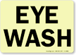 Glow-in-the-Dark Eyewash Sign