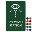 Eye Wash Station Tactile Touch Braille Sign