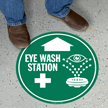 Eye Wash Station Circular Floor Sign
