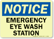 Notice: Emergency Eye Wash Station Sign