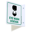 2 Sided Projecting Eye Wash Station Sign