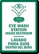 Bilingual Eyewash Sign