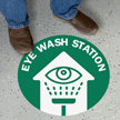 Eye Wash Station with Clipart & Arrow