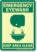 Eyewash Glow-in-the-Dark Sign