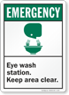 Emergency (ANSI) Eye Wash Station Sign