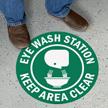 Eyewash Station Keep Area Clear SlipSafe Floor Sign