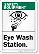 ANSI Safety Equipment Sign
