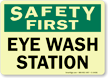 Safety First: Eye Wash Station Sign