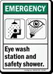 ANSI Emergency Sign