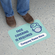 Face Covering Required with Company Name