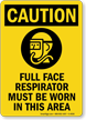 PPE Required OSHA Caution Sign